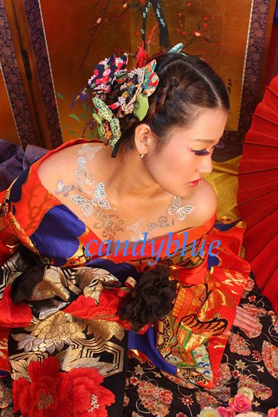 花魁ボディージュエリー日本人